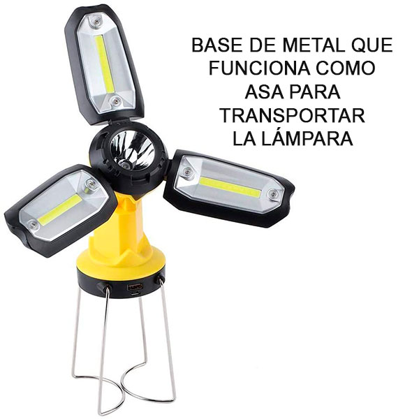 LÁMPARA TRIPLE LAMP - AMARILLO