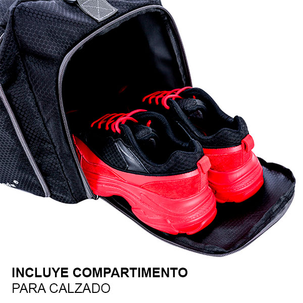 MOCHILA PLEGLABLE GYM 2 - NEGRO