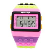 Reloj Bloque Digital rosa XG016