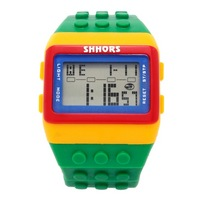 Reloj Bloque Digital verde XG017