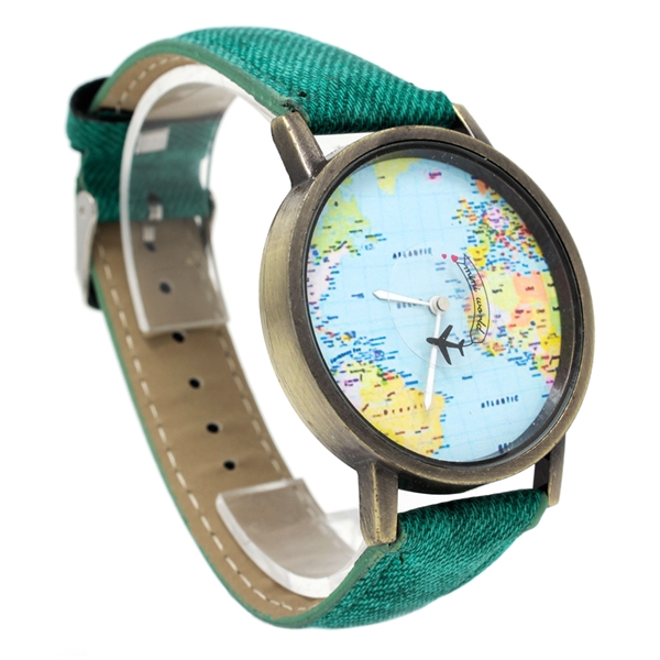 RELOJ Análogo MINI WORLD  VERDE