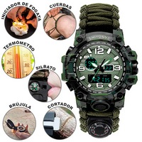 RELOJ DIGITAL DE SUPERVIVENCIA HIGH END - VERDE